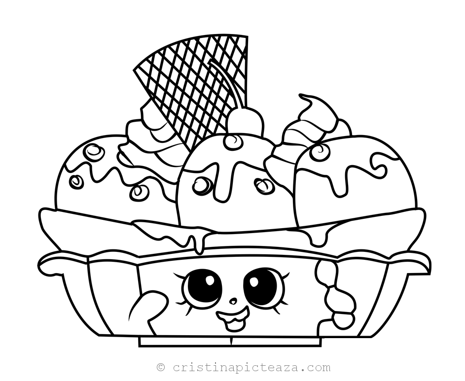 Shopkins Coloring Pages Season 2 Sweet Treats Cristina