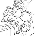 beast and lumiere coloring page