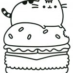 pusheen de colorat