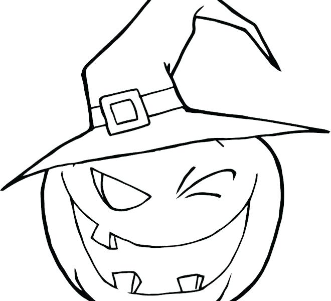 halloween pumpkin - Pumpkin with a hat drawing for painting