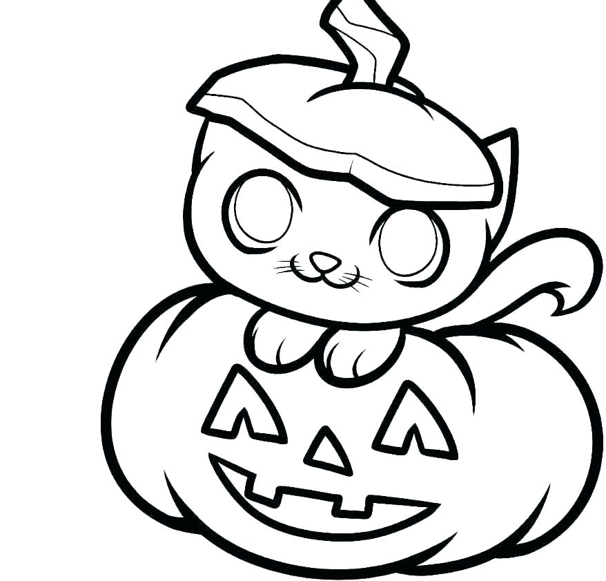 halloween pumpkin - Cat in a smiling pumpkin artwork