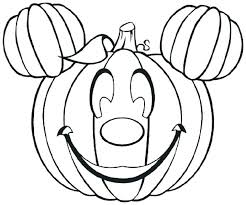 desen cu dovleac - Mickey pumpkin coloring pages
