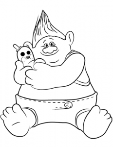 Trolls and toy - Cristinapicteaza.com Coloring page