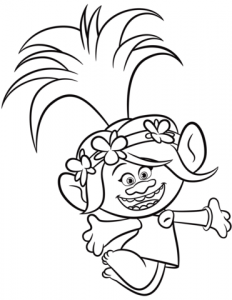 Trolls 2 coloring page cristinapicteaza