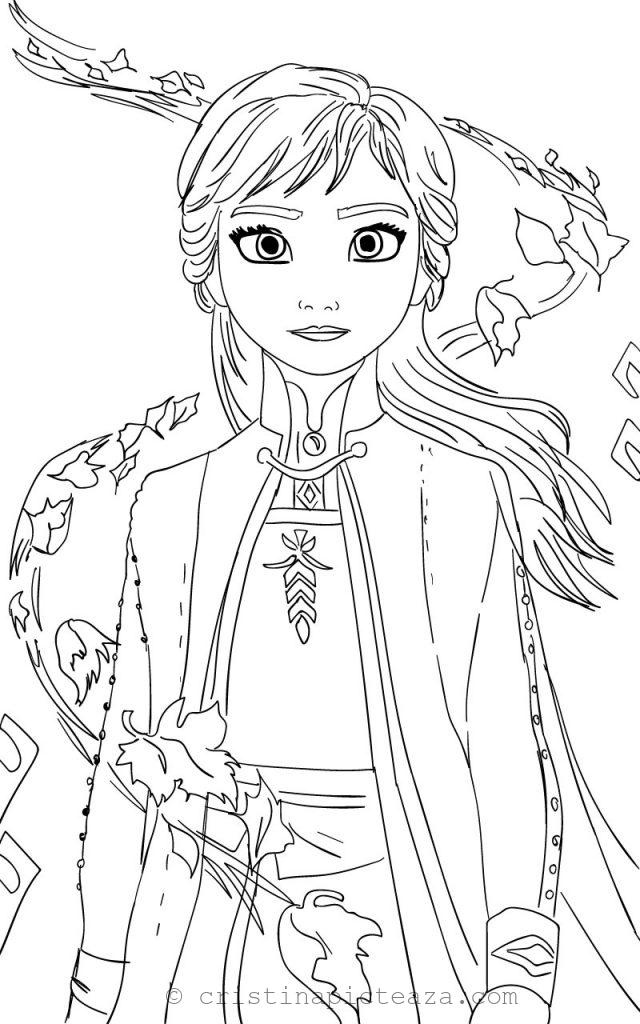 Anna coloring pages from Frozen 2 CristinaPicteaza.com
