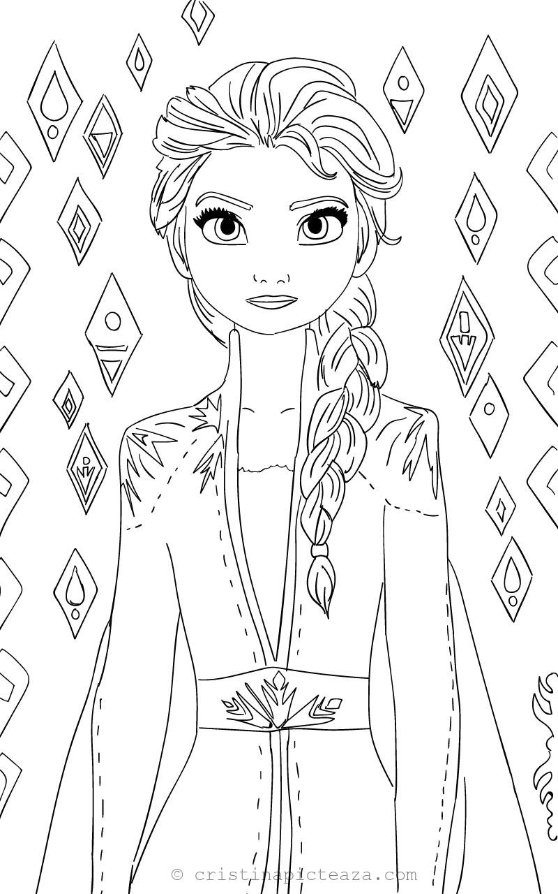 Elsa Coloring Pages Elsa From Frozen 2 Cristina Is Painting