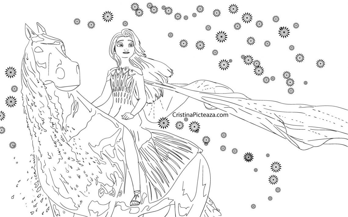 Elsa Coloring pages   Elsa from Frozen 18 – Cristina is Painting