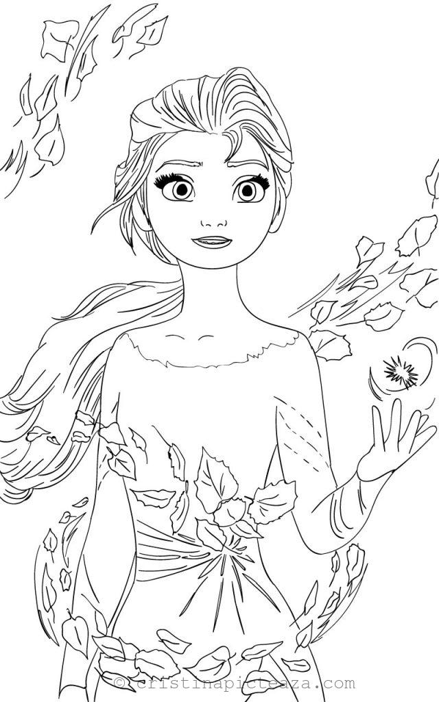 Elsa Coloring pages - Elsa from Frozen 2 - Cristina is ...
