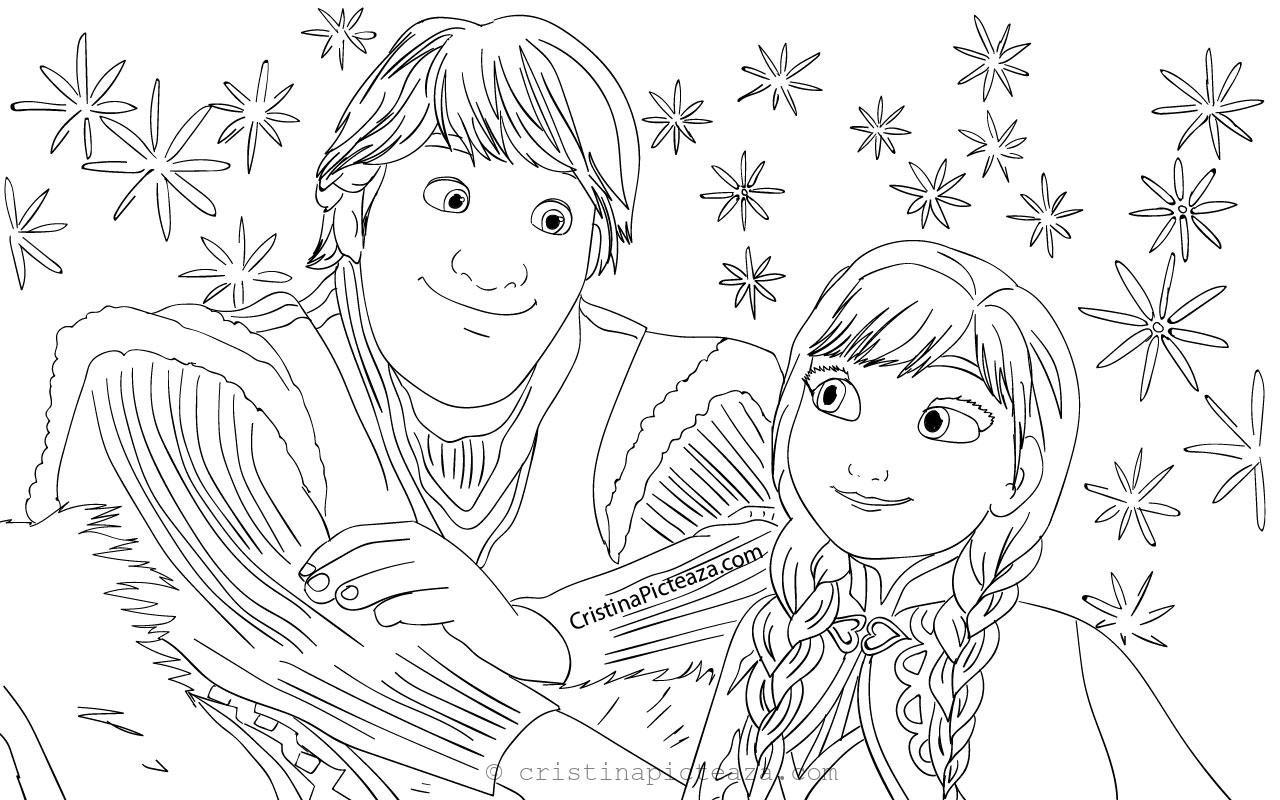 Anna from Frozen 2 Coloring Pages - Cristina Picteaza.com