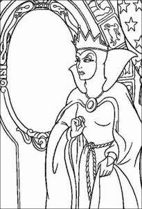 Evil queen coloring pages - Planse de colorat cu regina malefica