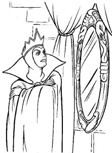 Snow White queen coloring pages - Alba ca zapada planse de colorat