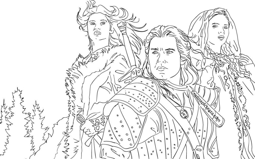 The Witcher coloring pages - Cristina picteaza