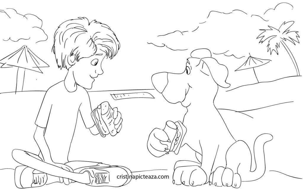 Scooby doo coloring pages - Scooby doo coloring pages - planse de colorat cu scooby doo cristina picteaza